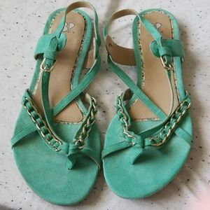 Nordstrom BP mint green sandals Size 8.5